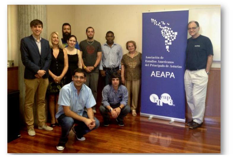 Recepción de la AEAPA a la Escuela de Asturianía 2013